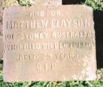 Original Gravemarker of Matthew Clayson
