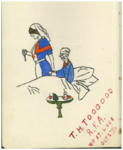 Drawing from Nurse Hicks' Diary