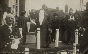 Unveiling Chester's War Memorial