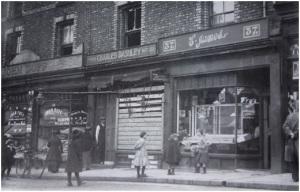 Charles Dashley's boarded up pork butcher shop