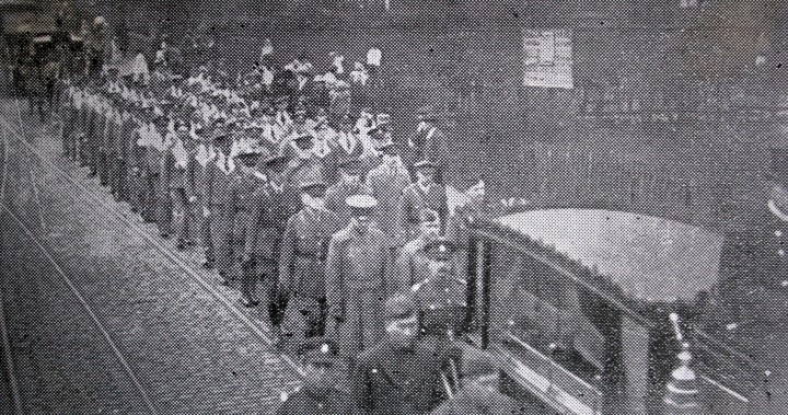 US soldiers' funeral, Stockport, October 24th 1918.JPG